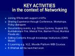 key activities in the context of networking