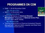 programmes on cdm