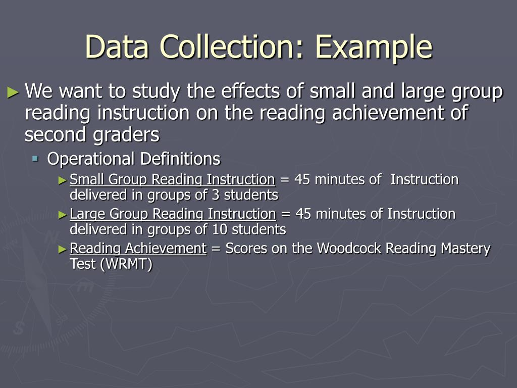 Data Collection: Example