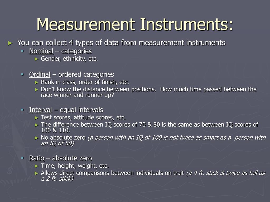 Measurement Instruments:
