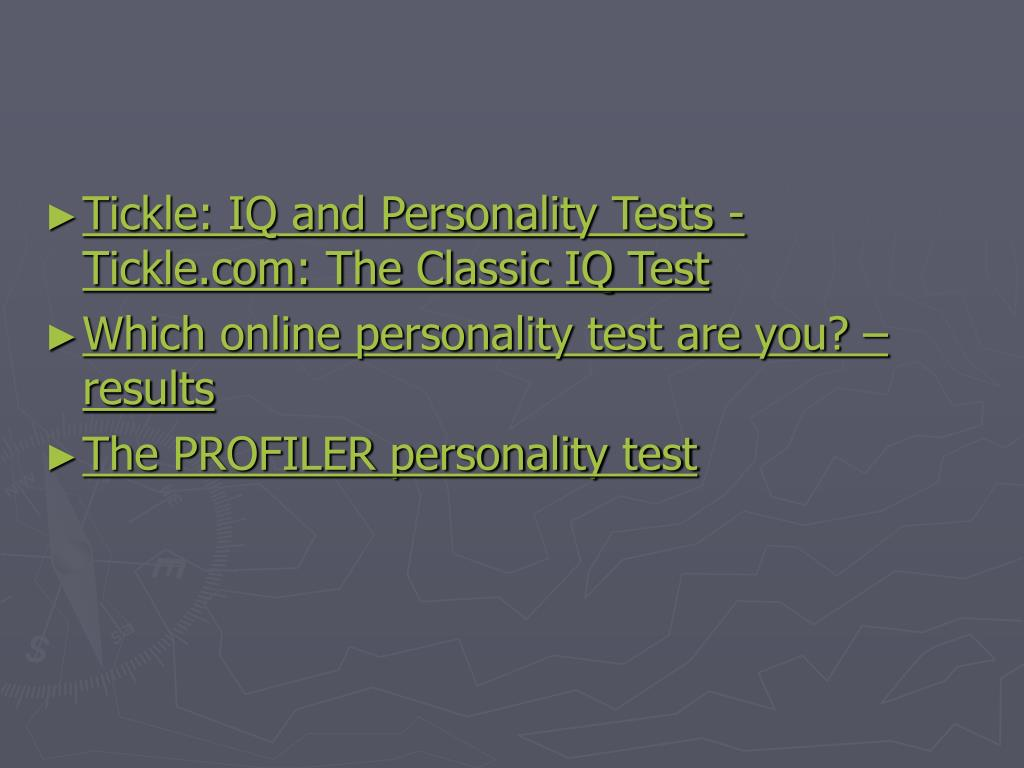 Tickle: IQ and Personality Tests - Tickle.com: The Classic IQ Test