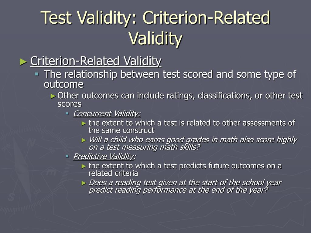 Test Validity: Criterion-Related Validity
