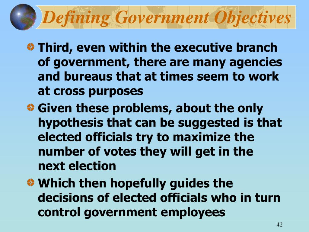Defining Government Objectives
