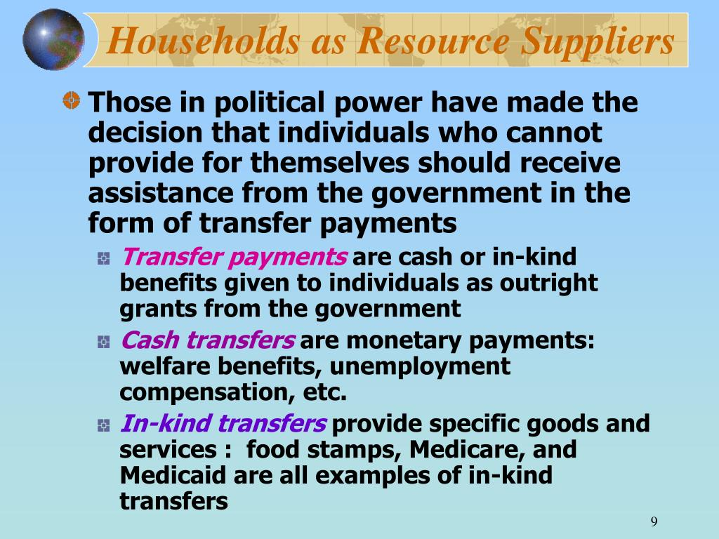 Households as Resource Suppliers