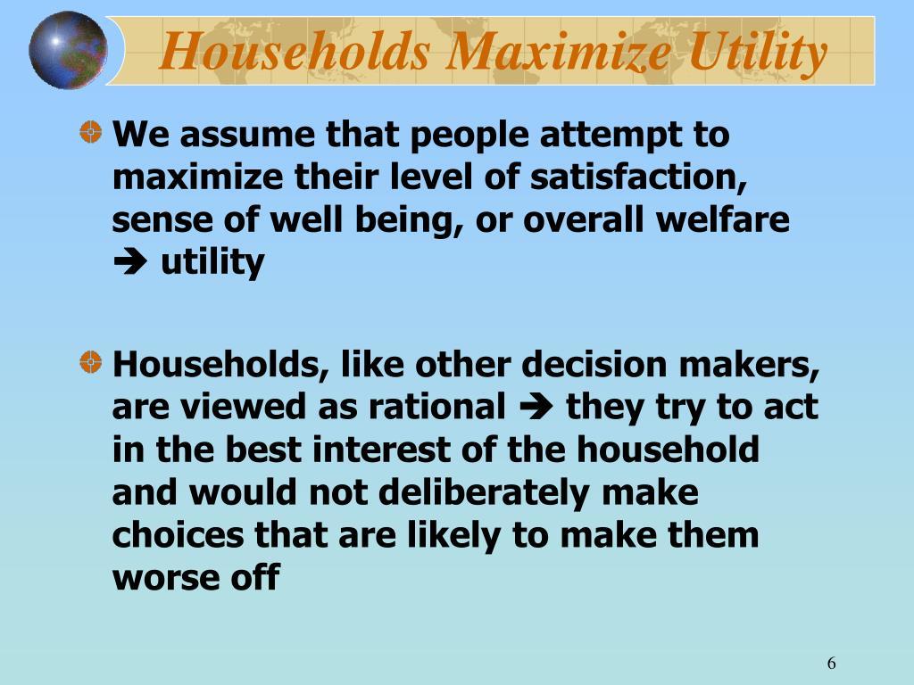 Households Maximize Utility
