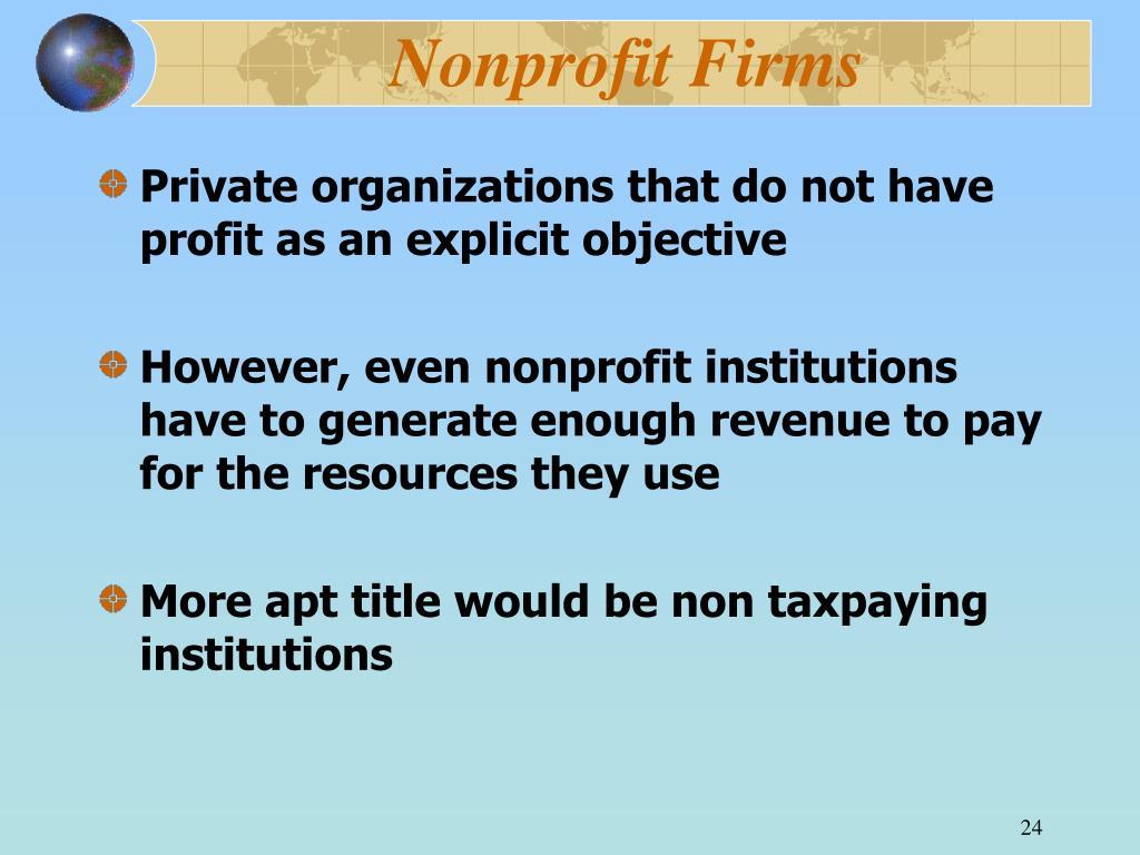 Nonprofit Firms
