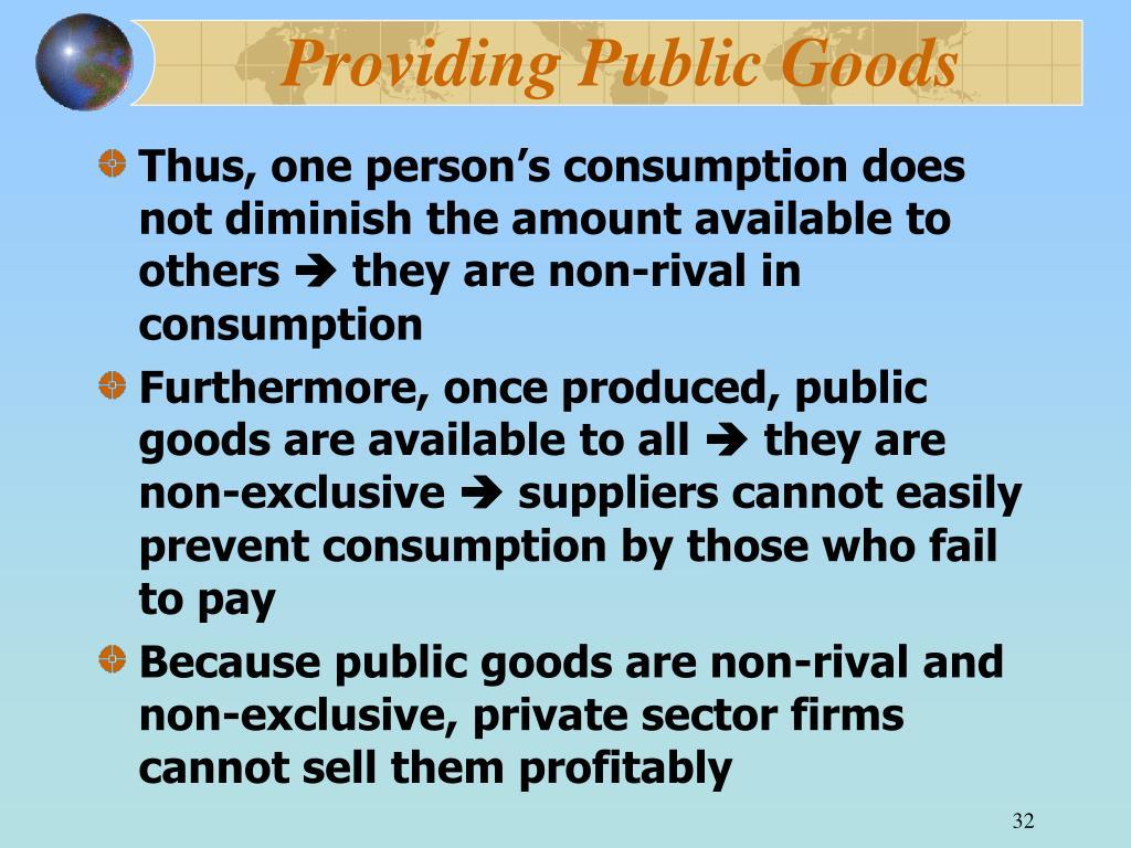 Providing Public Goods