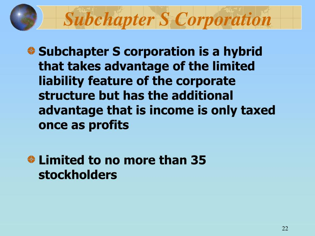 Subchapter S Corporation