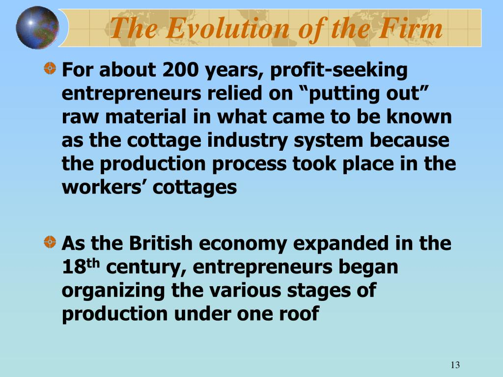 The Evolution of the Firm