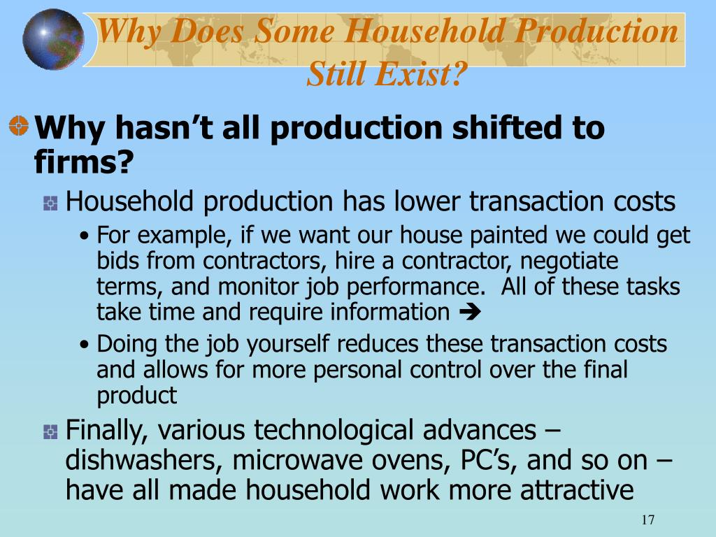 Why Does Some Household Production Still Exist?