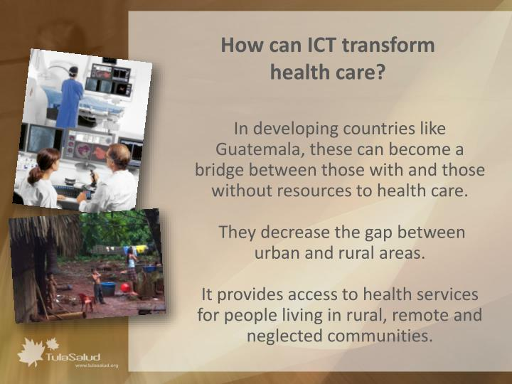 How can ict transform health care