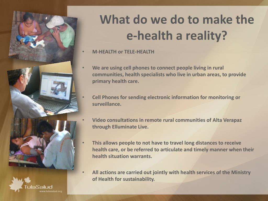 What do we do to make the e-health a reality?