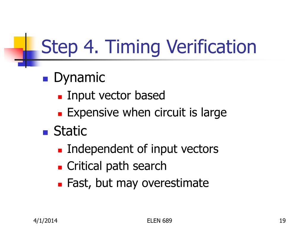 Step 4. Timing Verification