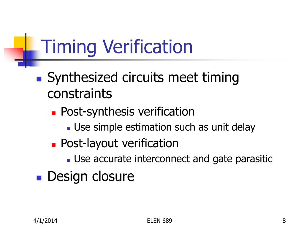 Timing Verification