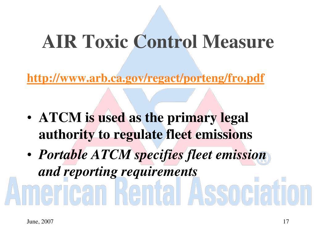 AIR Toxic Control Measure