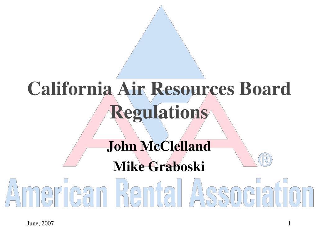 California Air Resources Board Regulations