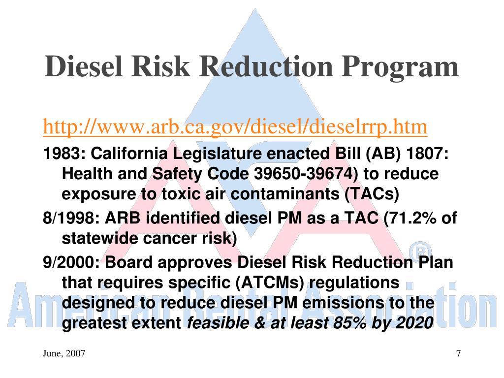 Diesel Risk Reduction Program