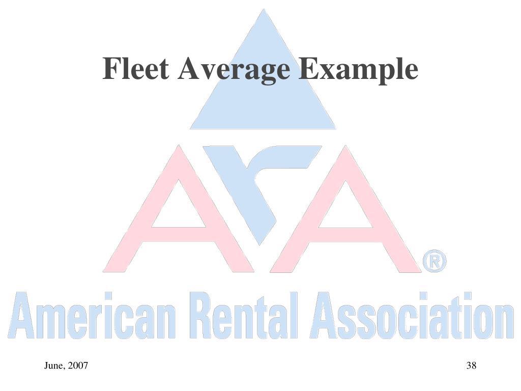 Fleet Average Example