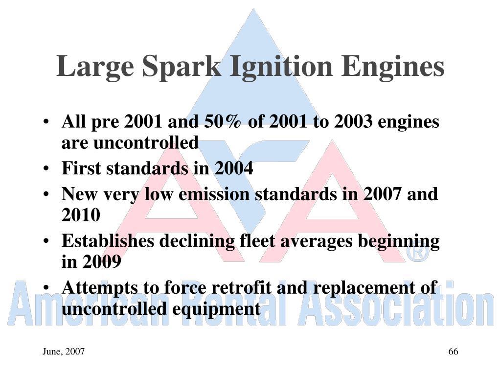 Large Spark Ignition Engines