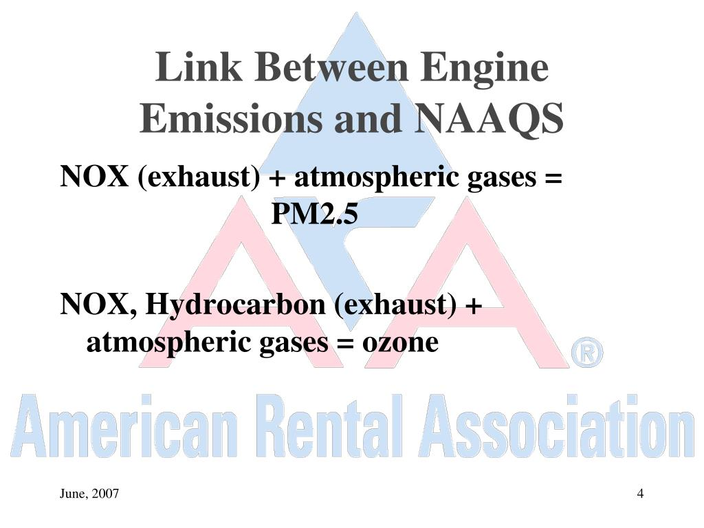 Link Between Engine Emissions and NAAQS