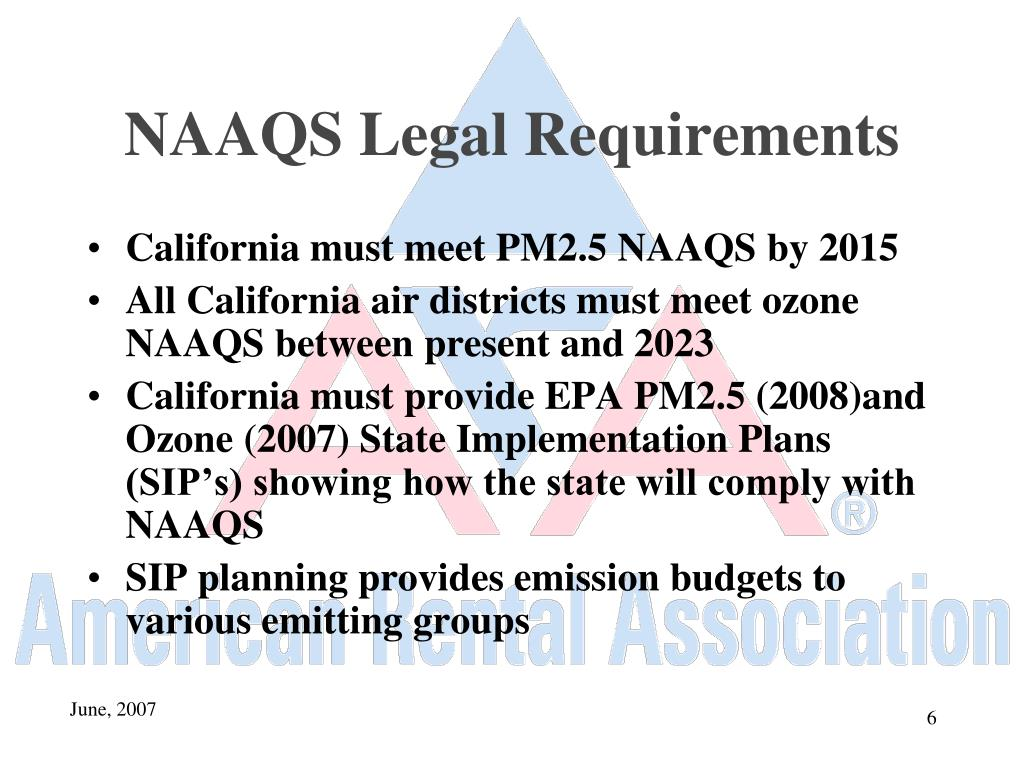 NAAQS Legal Requirements