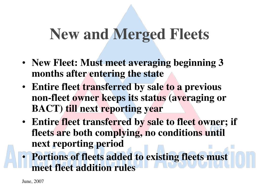 New and Merged Fleets