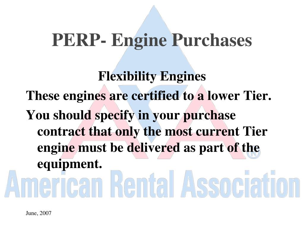 PERP- Engine Purchases