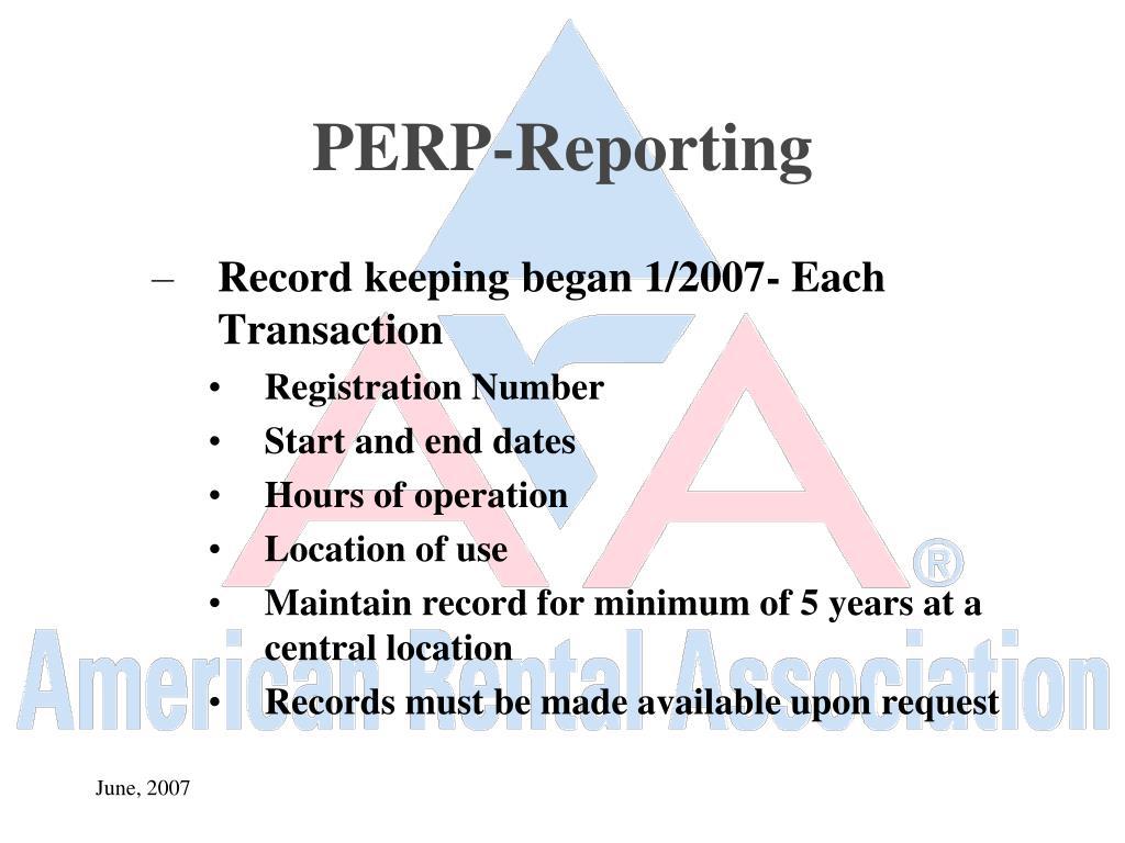 PERP-Reporting