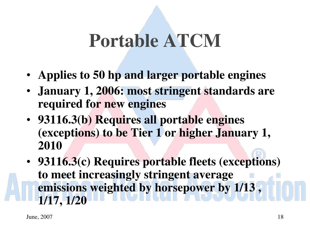 Portable ATCM
