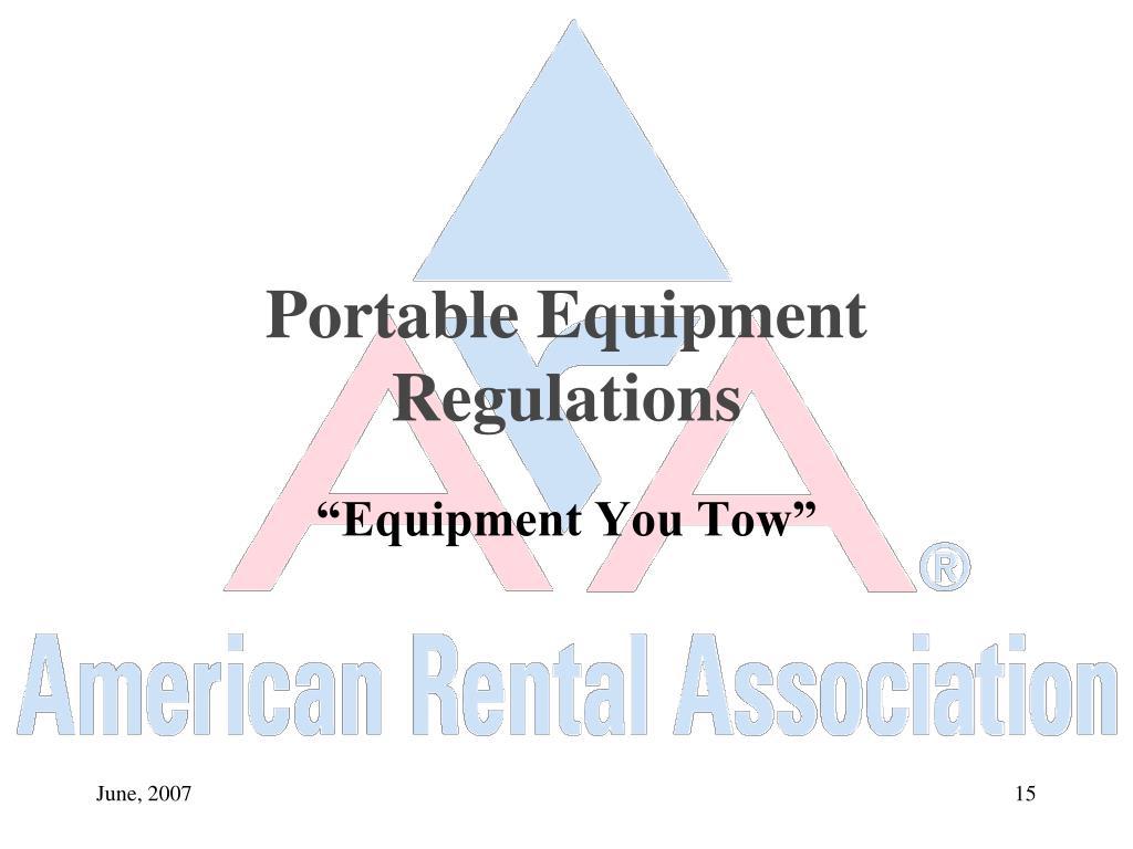 Portable Equipment Regulations