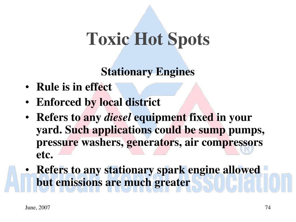 Toxic Hot Spots