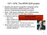 1971 1976 the arpa sur project