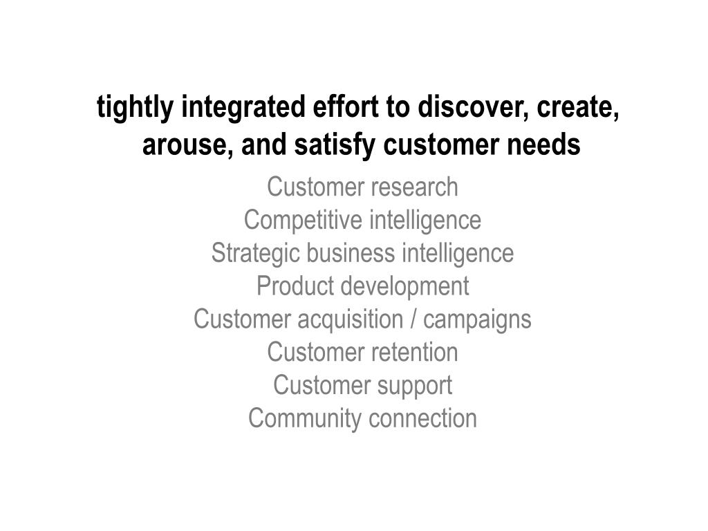 tightly integrated effort to discover, create,
