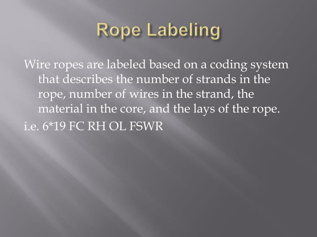 Rope Labeling