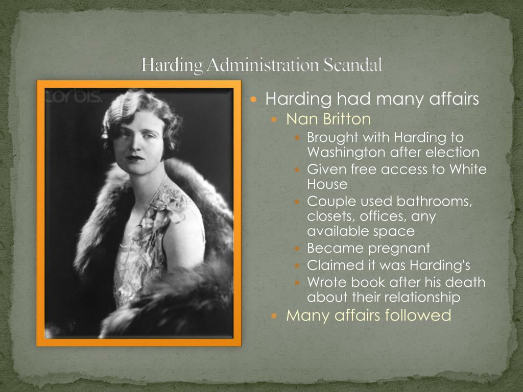 Harding Administration Scandal