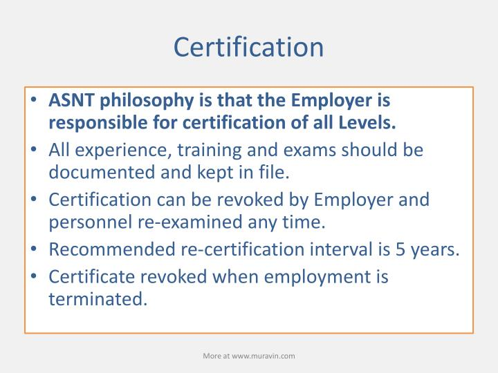 PPT - Understanding ASNT SNT-TC-1A Recommended Practice and CP-189 ...