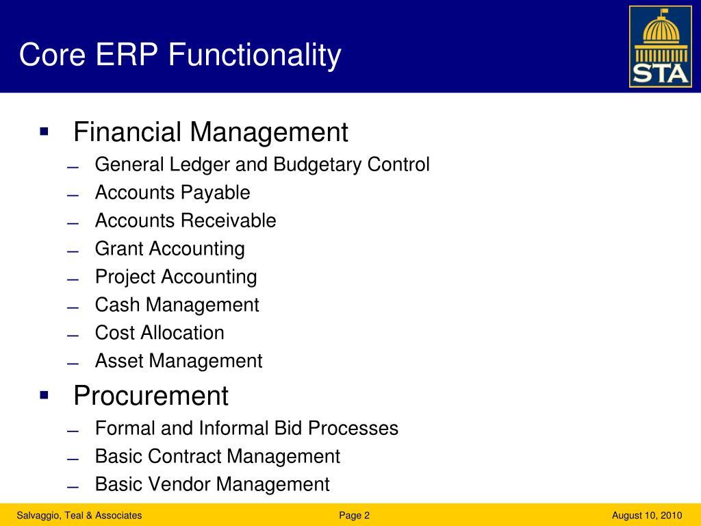 Core ERP Functionality