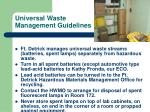 universal waste management guidelines