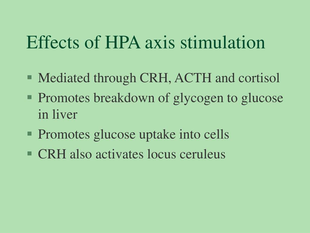 Effects of HPA axis stimulation