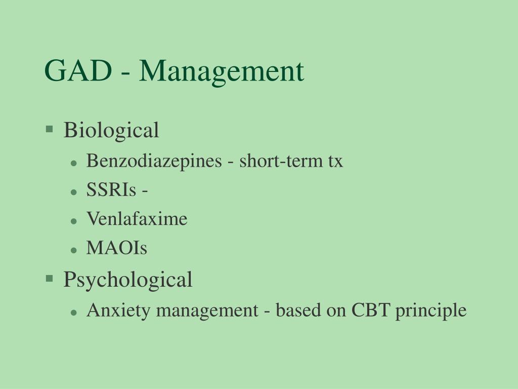 GAD - Management