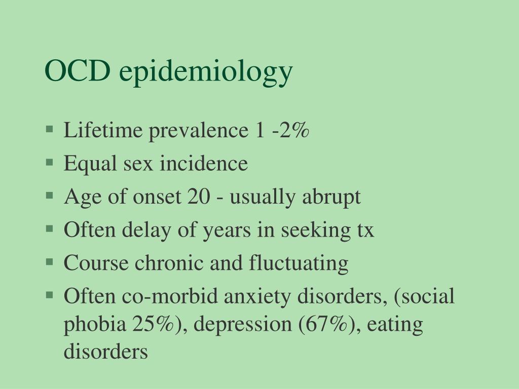 OCD epidemiology