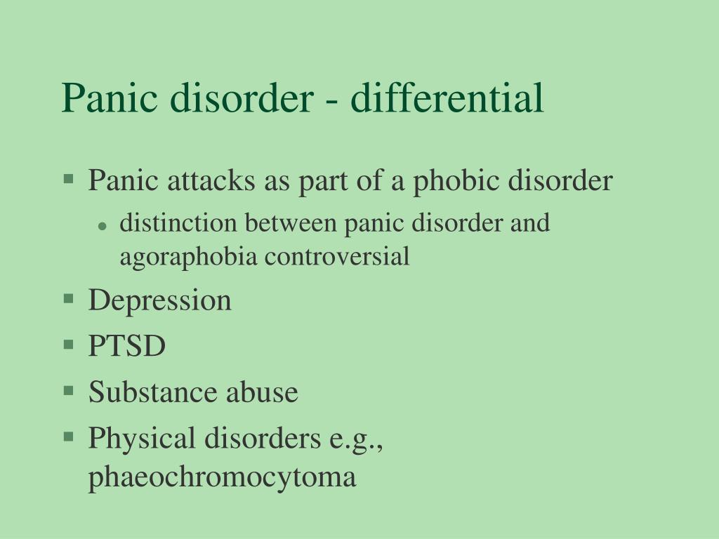 Panic disorder - differential