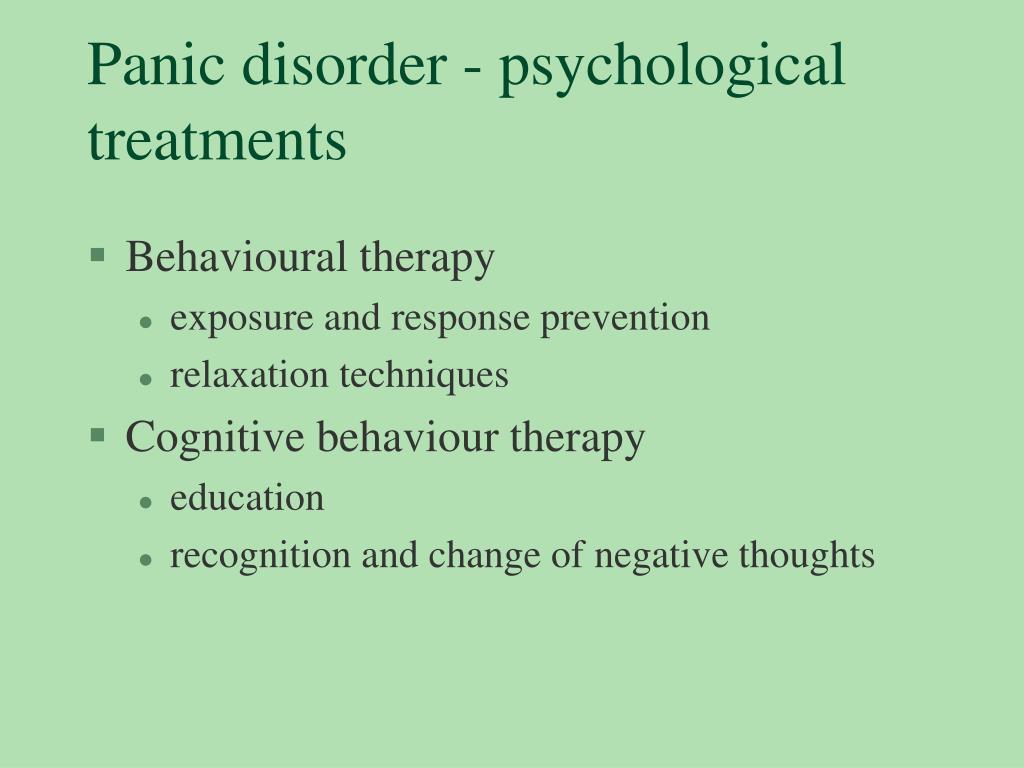 Panic disorder - psychological treatments