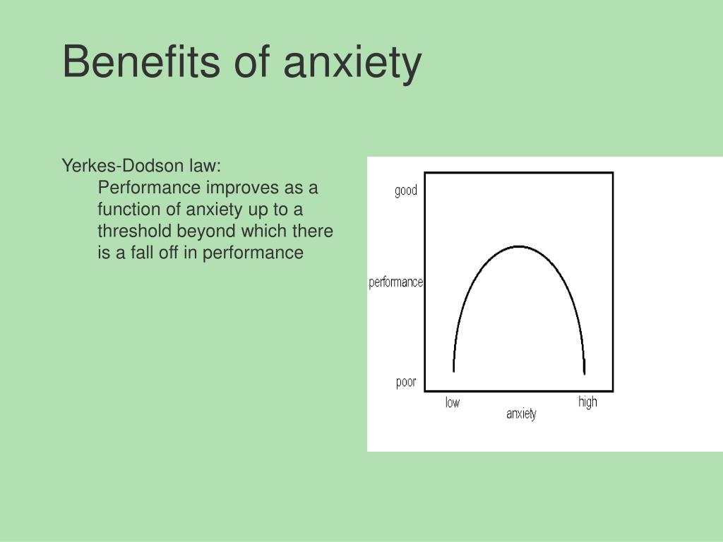 Benefits of anxiety