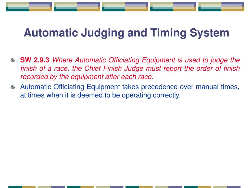 Automatic Judging and Timing System