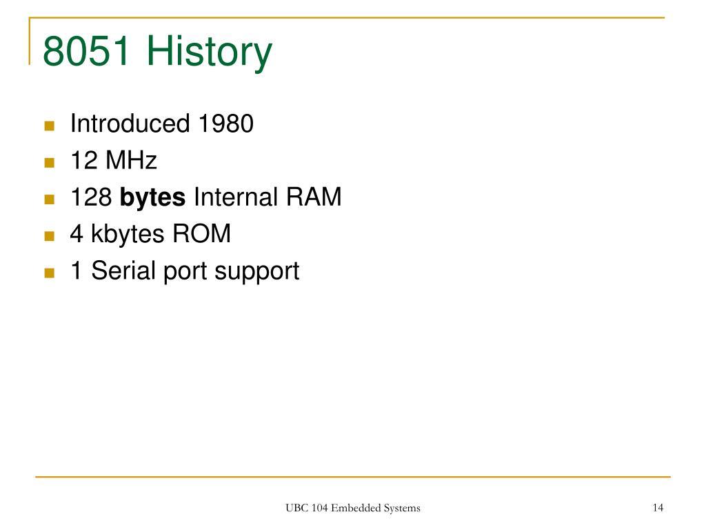 8051 History