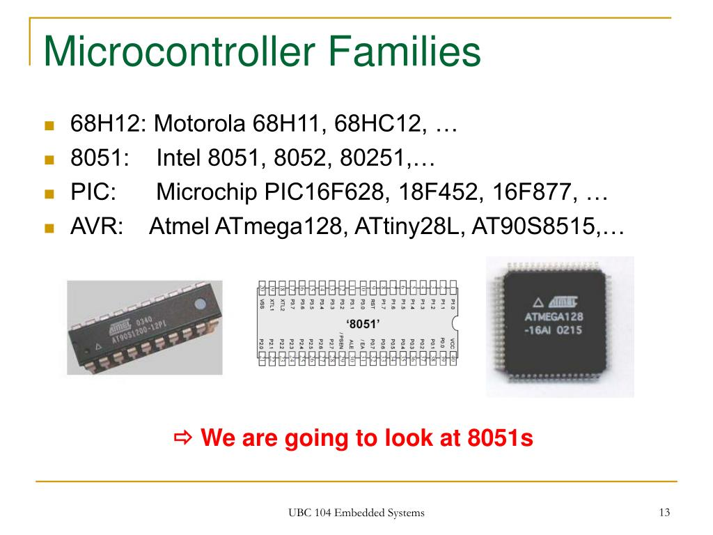 Microcontroller Families