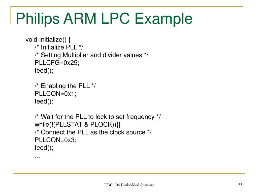 Philips ARM LPC Example