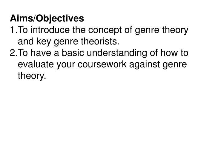 Aims/Objectives