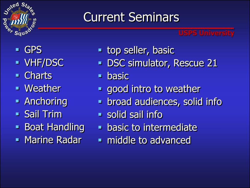 Current Seminars